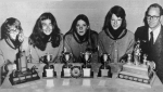 1972 Girls' BrierCurling TeamProvincial ChampsDebbie Hunter, Gillian Thompson,Colleen Rudd, Pat Crimp, Mr. Thiessen