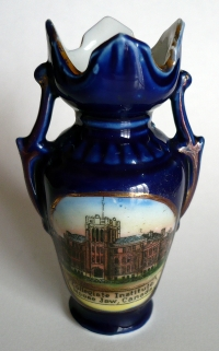 Commemorative vase from CCI's 1910 opening ceremonies. (approx. 3' high - Dresden china)