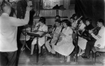 1961 - Chuck Hendrickson conducts Gym Show Prep Band: Nola Heal, Terry Malden, Marg Curry, Grant Thurgood, Barb Wigmore,
