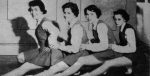 1955 Senior CheerleadersDesira Skene, Marie Lewis, Sharon Armour, Kay Kelly
