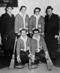 1963 Saskatchewan High School Boys Curling ChampionsBack row l to r: Roy Thiessen, Dennis Balderston