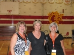 1971 Grads at Sat. morning tour.  Pat Simle (cheerleader of the year), Debbie Reid and, Mary-Gaye Bastedo, .